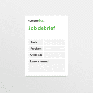 cl-product-job-debrief