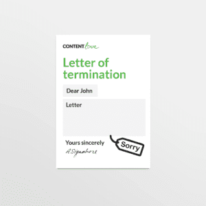 cl-product-letter-termination